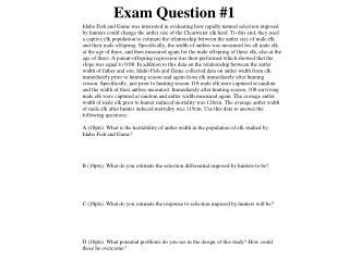 Exam Question #1