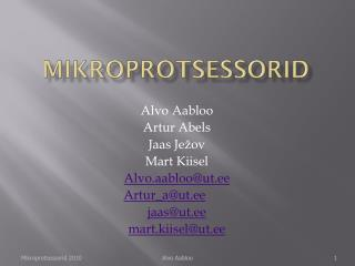 Mikroprotsessorid