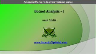 Botnet Analysis - I