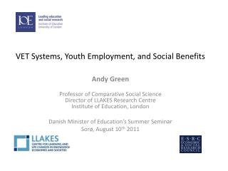 VET Systems, Youth Employment, and Social Benefits