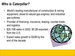 Who is Caterpillar