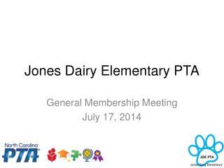 Jones Dairy Elementary PTA