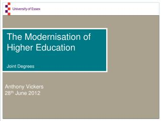 The Modernisation of Higher Education Joint Degrees