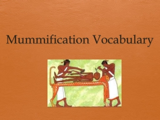 The Mummification Process Vocabulary