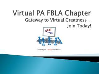 Virtual PA FBLA Chapter