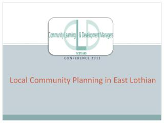 Local Community Planning in East Lothian