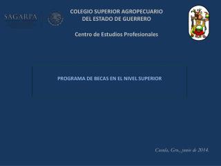 COLEGIO SUPERIOR AGROPECUARIO DEL ESTADO DE GUERRERO Centro de Estudios Profesionales