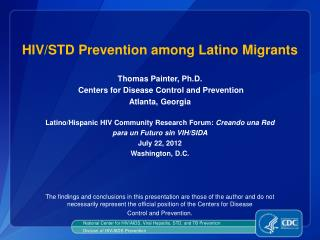 HIV/STD Prevention among Latino Migrants