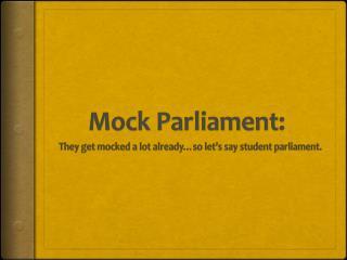 Mock Parliament: