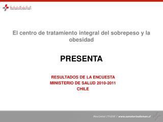 El centro de tratamiento integral del sobrepeso y la obesidad PRESENTA