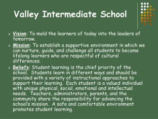 Valley Intermediate School