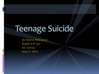 Teenage Suicide