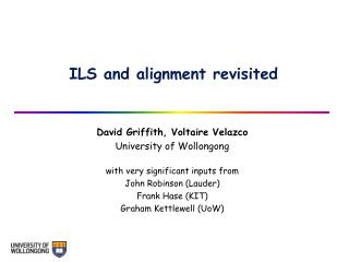 ILS and alignment revisited