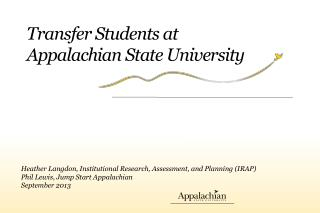 Transfer Students at Appalachian State University