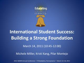 International Student Success: Building a Strong Foundation