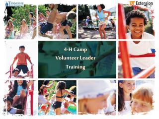 4-H Camp  Volunteer Leader Training