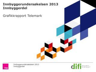 Innbyggerundersøkelsen 2013 Innbyggerdel Grafikkrapport Telemark