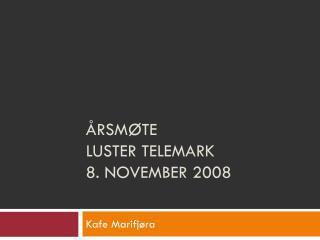 Årsmøte  Luster Telemark 8. november 2008