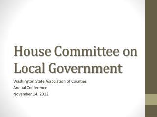 House Committee on Local Government