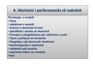 4.  Vlerësimi  I  performancës së nxënësit