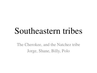 Southeastern tribes