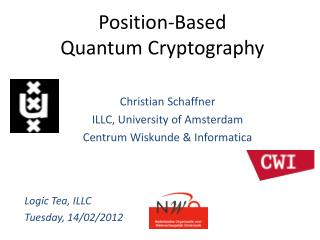 Position- Based Quantum  Cryptography