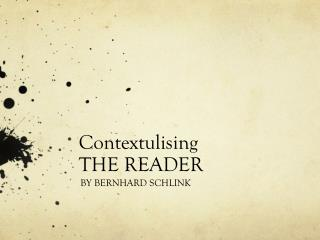 Contextulising THE READER