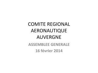 COMITE REGIONAL AERONAUTIQUE AUVERGNE