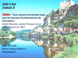 Jeudi  8  mai Français  II