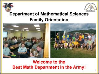 Department of Mathematical Sciences Family Orientation