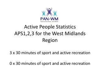 3 x 30 minutes of Sport and Active Recreation in West Midlands (KPI 1)
