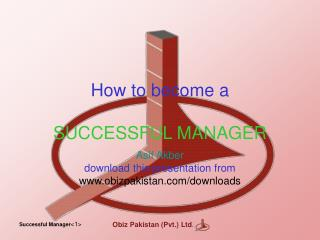 How to become a SUCCESSFUL MANAGER
