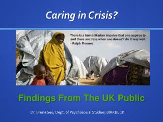 Caring in Crisis?