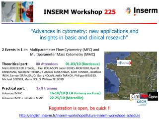 """Advances  in  cytometry : new applications and insights in basic and clinical  research"""
