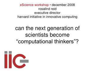 can the next generation of scientists become