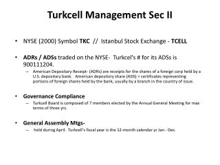 Turkcell  Management Sec II