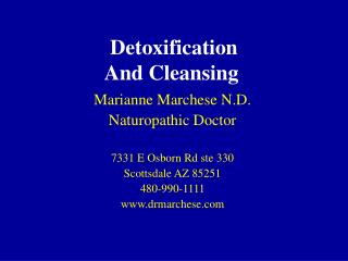 Detoxification And Cleansing