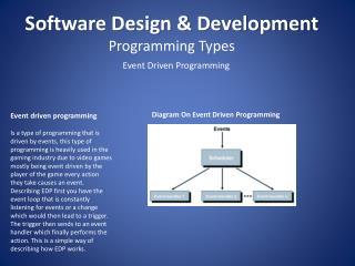 Software Design & Development Programming Types