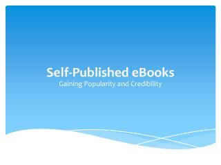 Self-Published eBooks