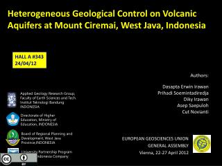 Heterogeneous Geological Control on Volcanic Aquifers at Mount  Ciremai , West Java, Indonesia