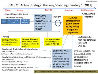 CALS21:  Active Strategic  Thinking/Planning (Jan-July 1, 2012)