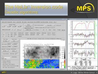 The HeLIx +  inversion  code Genetic algorithms