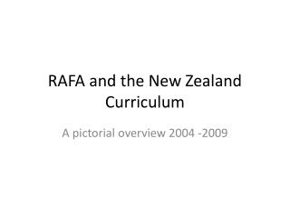 RAFA and the New Zealand Curriculum