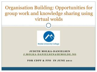Organisation  Building:  Opportunities  for  group work and knowledge sharing using virtual  wolds