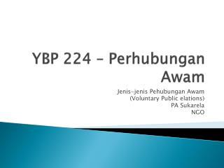 YBP 224 –  Perhubungan Awam