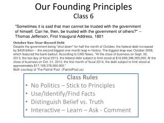 Our Founding Principles Class 6