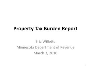Property Tax Burden Report