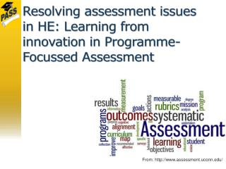Resolving assessment issues in HE: Learning from innovation in Programme-Focussed Assessment