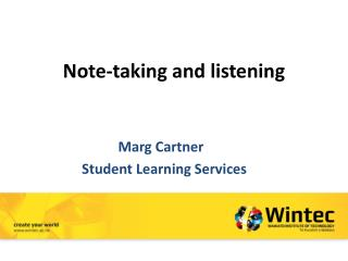 Note-taking and listening