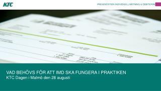 PRESENTATION INDIVIDUELL MÄTNING & DEBITERING